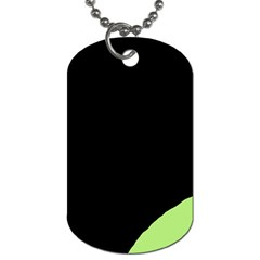 Green Ball Dog Tag (two Sides) by Valentinaart