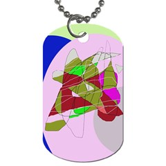 Flora Abstraction Dog Tag (one Side) by Valentinaart