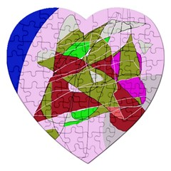 Flora Abstraction Jigsaw Puzzle (heart) by Valentinaart