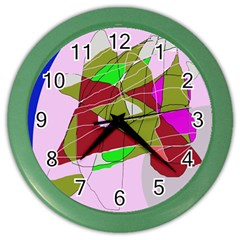 Flora Abstraction Color Wall Clocks