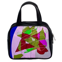 Flora Abstraction Classic Handbags (2 Sides) by Valentinaart