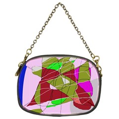 Flora Abstraction Chain Purses (two Sides)  by Valentinaart