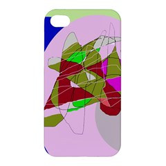 Flora Abstraction Apple Iphone 4/4s Premium Hardshell Case by Valentinaart