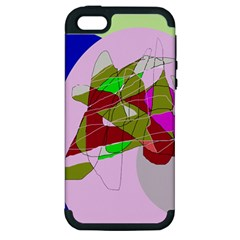 Flora Abstraction Apple Iphone 5 Hardshell Case (pc+silicone) by Valentinaart