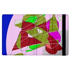 Flora Abstraction Apple Ipad 2 Flip Case by Valentinaart