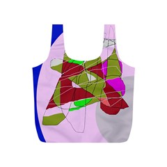 Flora Abstraction Full Print Recycle Bags (s)  by Valentinaart