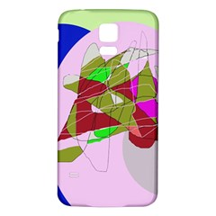 Flora Abstraction Samsung Galaxy S5 Back Case (white) by Valentinaart