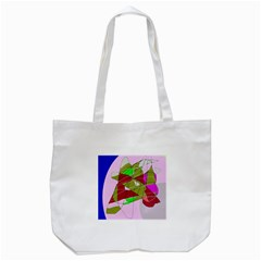 Flora Abstraction Tote Bag (white)