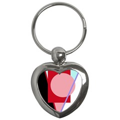 Decorative Geomeric Abstraction Key Chains (heart)  by Valentinaart