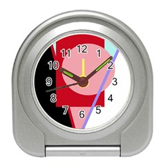 Decorative Geomeric Abstraction Travel Alarm Clocks by Valentinaart