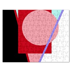 Decorative Geomeric Abstraction Rectangular Jigsaw Puzzl by Valentinaart