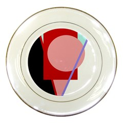 Decorative Geomeric Abstraction Porcelain Plates by Valentinaart