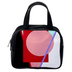 Decorative Geomeric Abstraction Classic Handbags (one Side) by Valentinaart