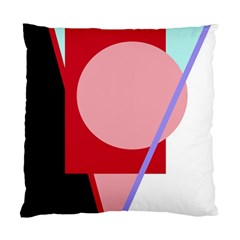 Decorative Geomeric Abstraction Standard Cushion Case (one Side) by Valentinaart