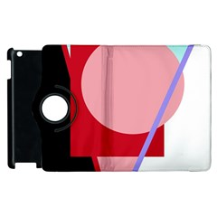 Decorative Geomeric Abstraction Apple Ipad 2 Flip 360 Case by Valentinaart