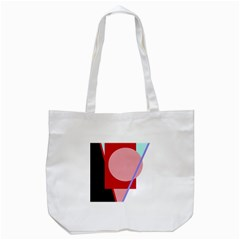 Decorative Geomeric Abstraction Tote Bag (white) by Valentinaart