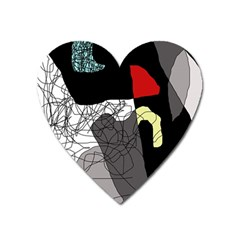 Decorative Abstraction Heart Magnet by Valentinaart