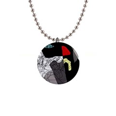 Decorative Abstraction Button Necklaces by Valentinaart