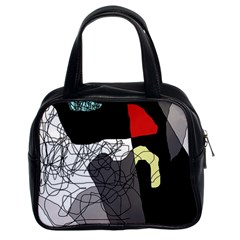 Decorative Abstraction Classic Handbags (2 Sides)