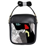 Decorative abstraction Girls Sling Bags Front
