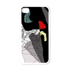 Decorative Abstraction Apple Iphone 4 Case (white) by Valentinaart