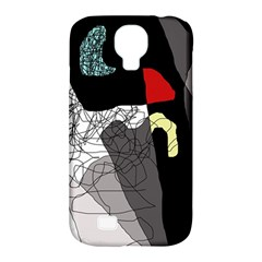 Decorative Abstraction Samsung Galaxy S4 Classic Hardshell Case (pc+silicone) by Valentinaart