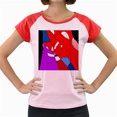 Colorful Abstraction Women s Cap Sleeve T Shirt by Valentinaart