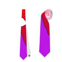 Colorful Abstraction Neckties (one Side)  by Valentinaart