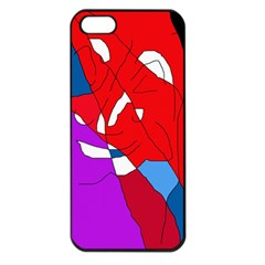 Colorful Abstraction Apple Iphone 5 Seamless Case (black) by Valentinaart