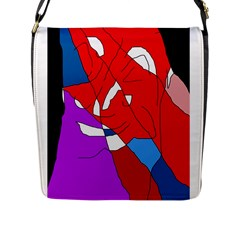 Colorful Abstraction Flap Messenger Bag (l)  by Valentinaart
