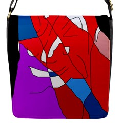 Colorful Abstraction Flap Messenger Bag (s) by Valentinaart