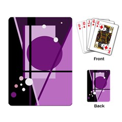 Purple Geometrical Abstraction Playing Card by Valentinaart