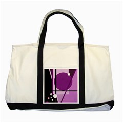 Purple Geometrical Abstraction Two Tone Tote Bag by Valentinaart