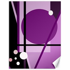 Purple Geometrical Abstraction Canvas 18  X 24   by Valentinaart