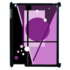 Purple Geometrical Abstraction Apple Ipad 2 Case (black) by Valentinaart
