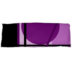 Purple Geometrical Abstraction Body Pillow Case (dakimakura) by Valentinaart