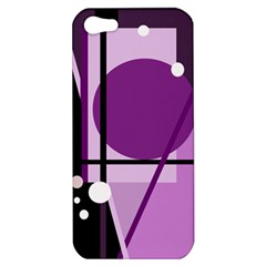 Purple Geometrical Abstraction Apple Iphone 5 Hardshell Case by Valentinaart
