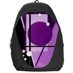 Purple Geometrical Abstraction Backpack Bag by Valentinaart