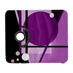 Purple Geometrical Abstraction Samsung Galaxy S  Iii Flip 360 Case by Valentinaart