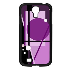 Purple Geometrical Abstraction Samsung Galaxy S4 I9500/ I9505 Case (black) by Valentinaart