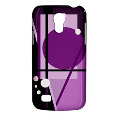 Purple Geometrical Abstraction Galaxy S4 Mini by Valentinaart