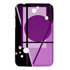 Purple Geometrical Abstraction Samsung Galaxy Tab 3 (7 ) P3200 Hardshell Case  by Valentinaart