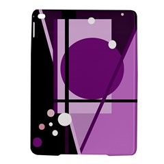 Purple Geometrical Abstraction Ipad Air 2 Hardshell Cases by Valentinaart
