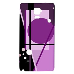 Purple Geometrical Abstraction Galaxy Note 4 Back Case by Valentinaart