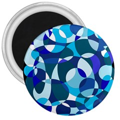 Blue Abstraction 3  Magnets by Valentinaart