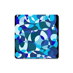 Blue Abstraction Square Magnet