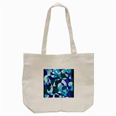Blue Abstraction Tote Bag (cream) by Valentinaart