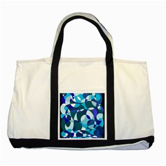 Blue Abstraction Two Tone Tote Bag by Valentinaart