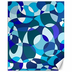 Blue Abstraction Canvas 11  X 14   by Valentinaart