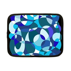 Blue Abstraction Netbook Case (small)  by Valentinaart